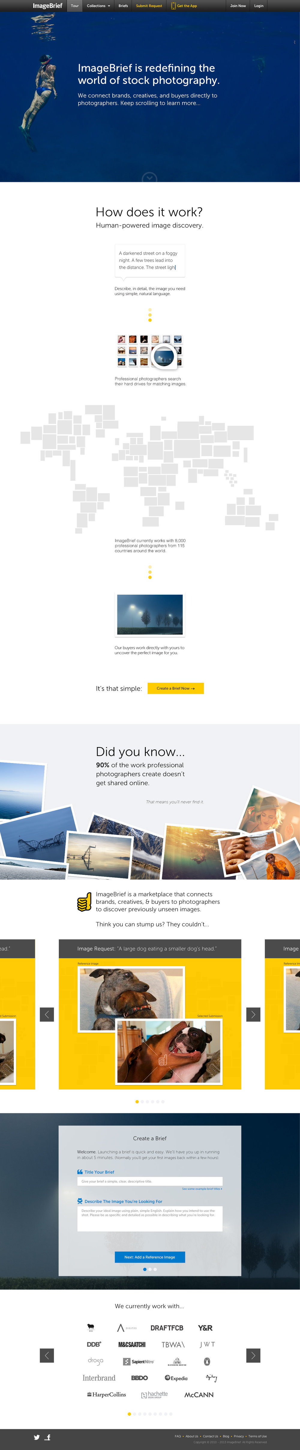 The Image Buyer Landing Page
