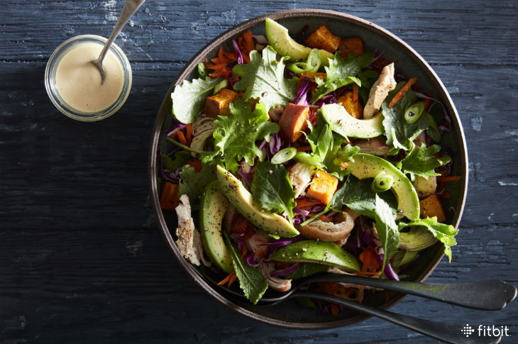 Sweet Potato & Avocado Salad with Spicy Cashew Dressing