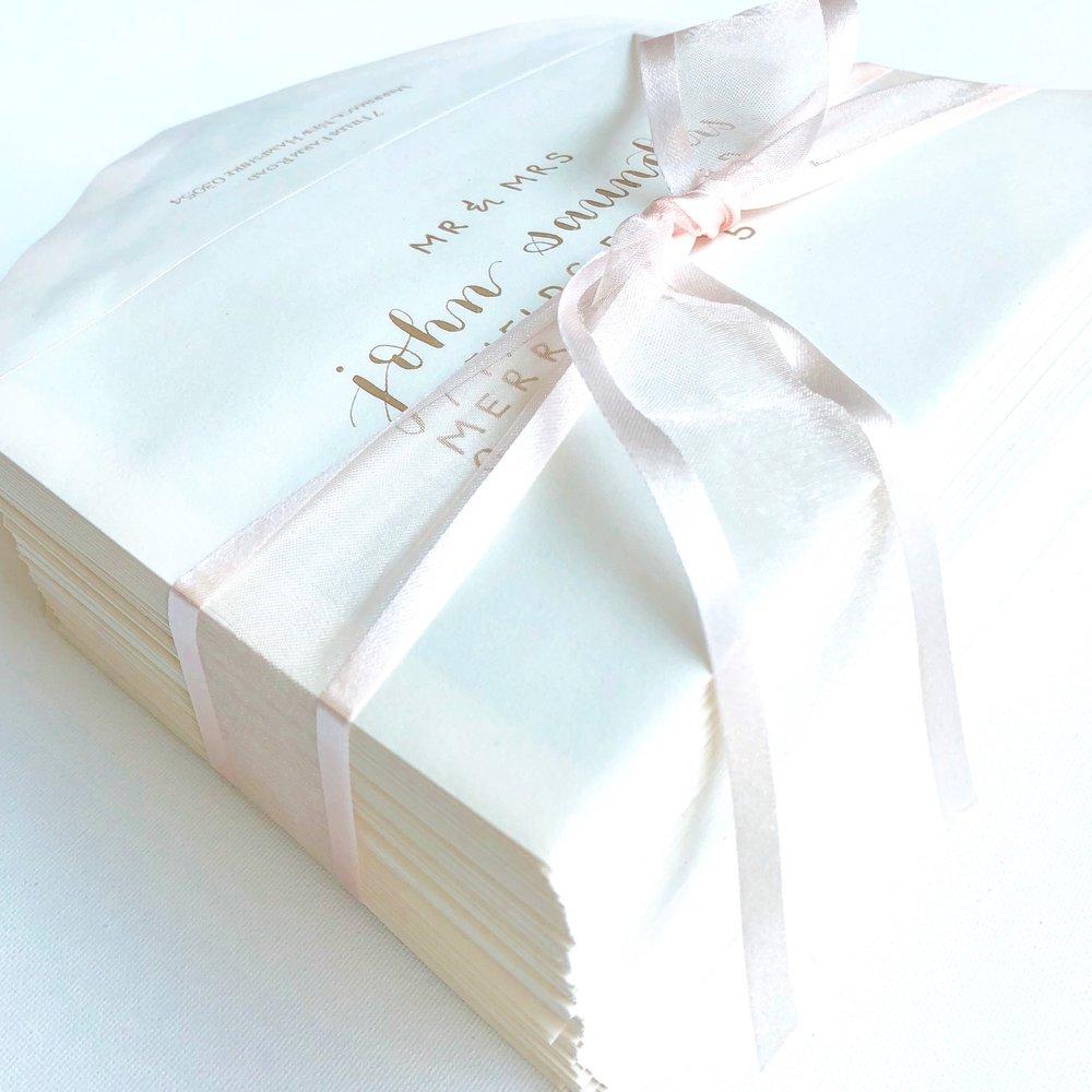WeddingBlushGoldEnvelopeHandlettering.JPG