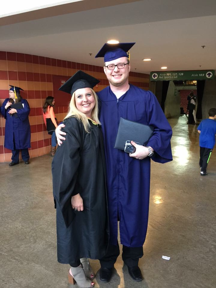 Vikki's Student Passion - Vikki is pictured here with one of her students from WGU after graduation in 2016. This former student is now a full-time faculty member at his local community college. Comments from WGU students about Vikki's Mentoring Role:I enjoy my weekly discussions with Vikki. She keeps me on track and motivated as well as providing valuable insight into my courses.  Vikki goes out of her way to help remove obstacles and provides encouragement.I struggled to find the motivation to complete my degree, given all the other priorities that comes along with family, and full time job. Vikki kept me moving forward and wouldn't let me give up. Perhaps the best thing she did in my situation, was listen.Vikki Carter is awesome! I am glad she is my mentor!It's always a pleasure to talking with Vikki. She has my best interest in mind all of the time and provides guidance & solid advise on how I should develop my strategy for success.Vikki Carter is the best Student Mentor anyone could ever ask for. Her guidance proved priceless for my journey to my Bachelor's Degree. Being an adult learner is very intimidating and can prove very trying at times. Vikki's steady leadership, knowledge, and insight into post-secondary education was truly world class. I hope WGU realizes the value of effective Student Mentors and rewards them appropriately.Vikki was instrumental in my success as my student mentor. When I found out I would have to check in with her regularly I didn't think there would be much value to it. I was wrong. Not only was she extremely knowledgeable about each class I would be taking and provided some key tips and input for each one, but it kept me on track those weeks I started to fall out of touch with the courses and program. I'm convinced without her I would not have completed as fast as I did, and question if I would have completed at all.The last couple of terms were the most difficult for me. Most of the classes that interested me were already done, and I was running out of steam. Vikki, as my student mentor, was there to keep me going. Even though I was probably driving her crazy when I procrastinated my goals, she never expressed any frustration, she just keep encouraging me and helped me move forward. Thanks Vikki!Vikki worked closely with me to enable me to graduate on my accelerated timeline. She was a great cheerleader and advisor, and had faith in my abilities even when I felt overwhelmed and crushed by time pressure. Vikki genuinely understood my timeline, gave me straightforward advice, trusted me to meet my own goals. She went above and beyond the call of duty to help me succeed, Her involvement made completing the WGU courses an enjoyable & fulfilling experience.
