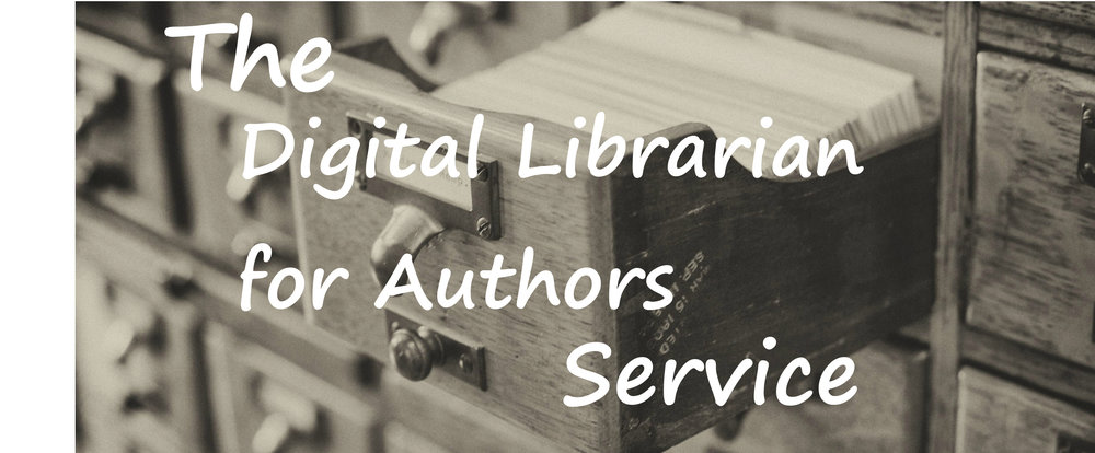 Coming 2019 - Vikki will be offering her researching skills to authors starting in 2019 with a paid service: The Digital Librarian for Authors!This service will provide authors with a comprehensive starter guide to resources on their specific topic as they start working on their next book.  This guide will point authors in the right direction with their research using reliable online resources, books, and lists of other works they can find in their local library.