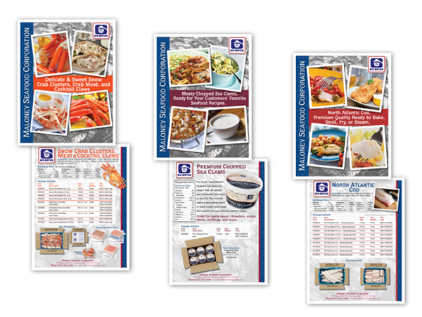 seafood product brochure FLYERS