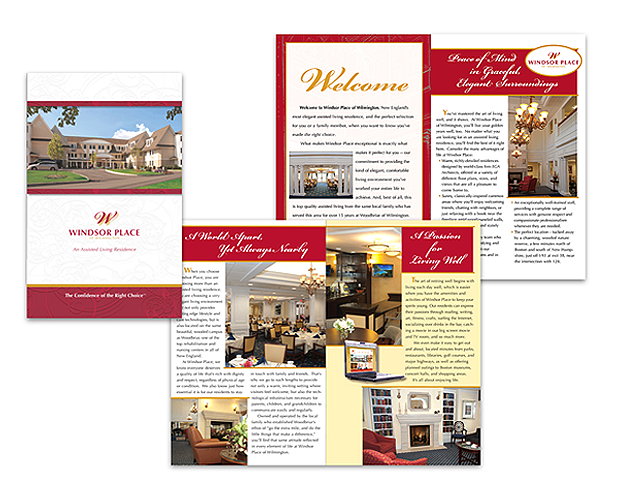 assisted living center brochure
