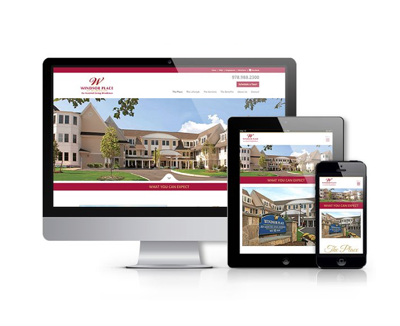 ASSISTED LIVING RESIDENCE WEBSITE + SOCIAL MEDIA
