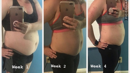 4 week progress pics!!