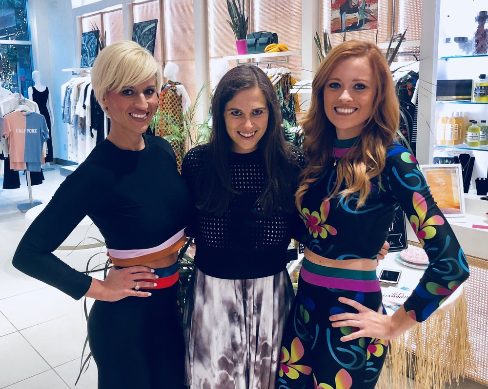 """Surfin' in the USA"" with these babes at Cynthia Rowley Atlanta."