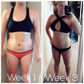 """Results in 3 short weeks from """" 6 Week Shred """" & Intermittent Fasting"""