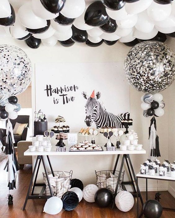 Black and white Zebra. Fun AND cool.