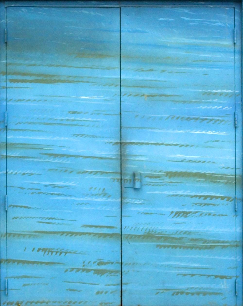 Aqua Blue Stained Door.jpg