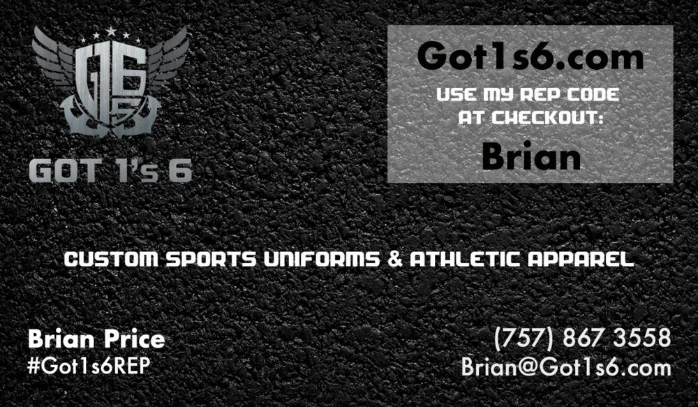 Veteran owned business - Got 1's 6 REP CODE: Brian