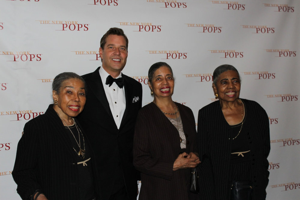 Steven Reineke with New York Pops Board Members