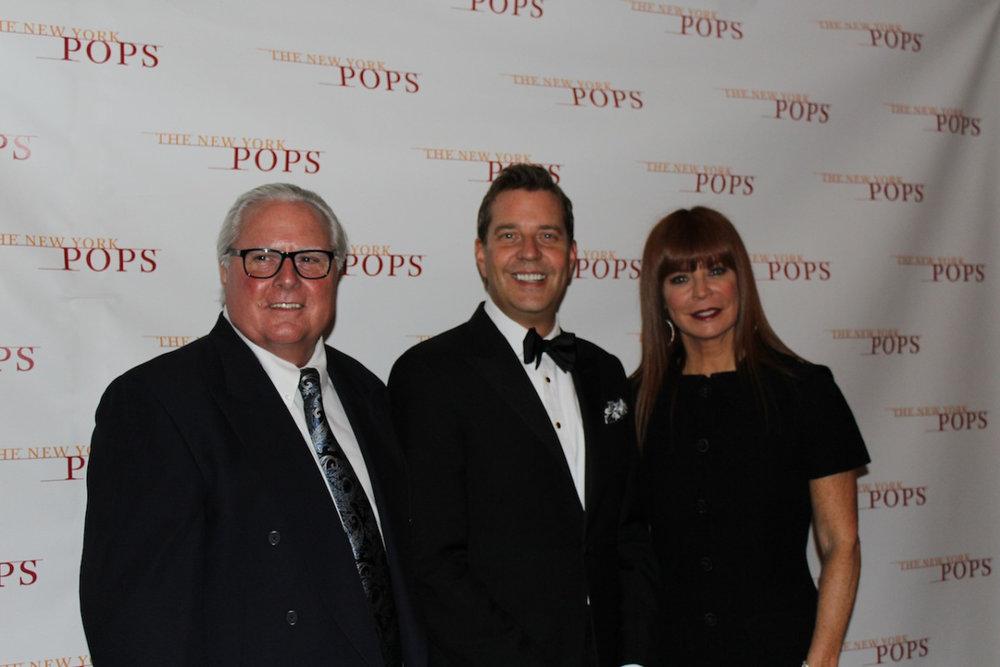 Steven Reineke with New York Pops auction winners