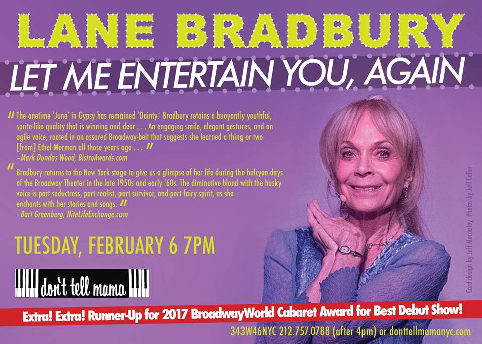 Lane Bradbury Let Me Entertain You Again Feb 2018 poster.jpg