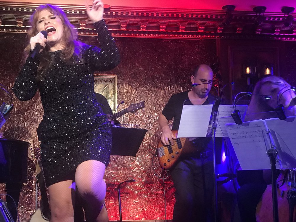 "Maxine Linehan performing ""One: The Songs of U2"" at Feinstein's/54 Below"