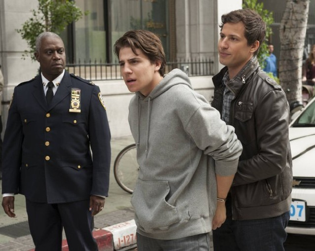 "Michael Grant, Andre Braugher, Andy Samberg in Fox's ""Brooklyn Nine Nine"""