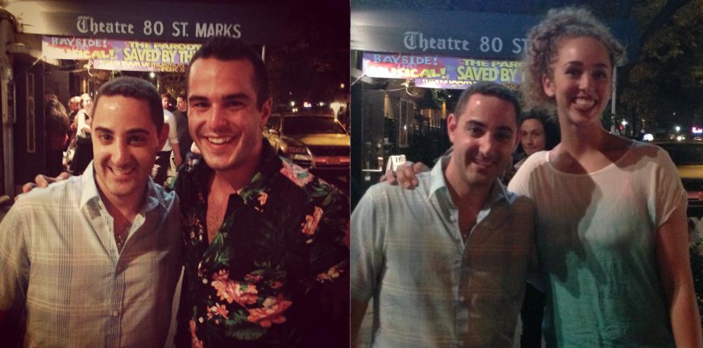 "Call Me Adam, John Duff (""AC Slater"") and Adriana Spencer (""Jessie Spano"") at ""Bayside! The Musical!"""