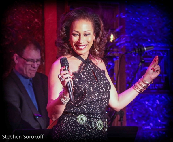 "Tamara Tunie performing in ""MASH UP"" at Feinstein's/54 Below, Photo Credit: Stephen Sorokoff"