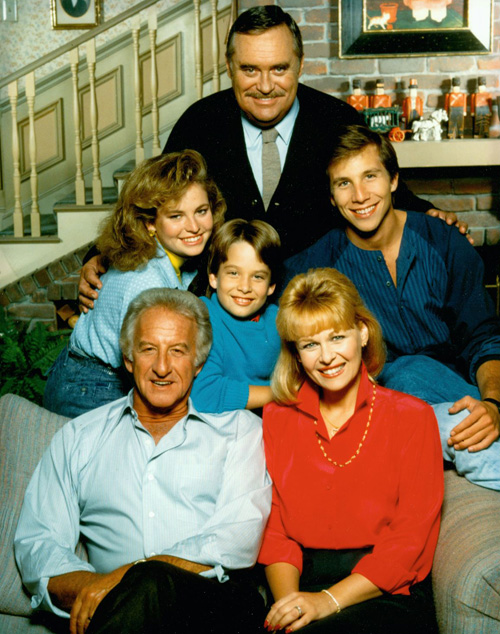 "Cast of ""Mr. Belvedere"":Bob Uecker, Ilene Graff, Tracy Wells, Christopher Hewett, Rob Stone and Brice Beckham."