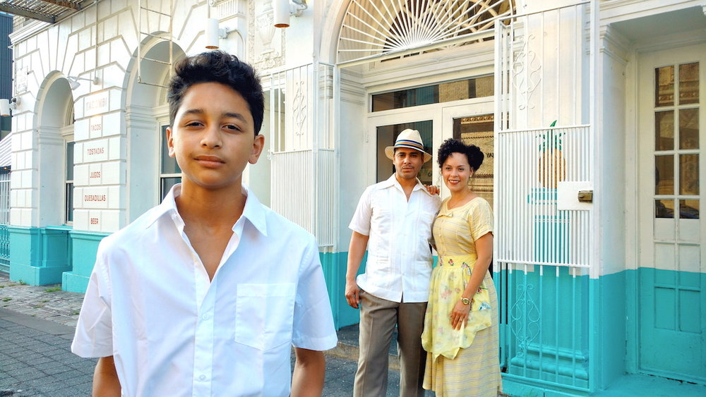 "Gregory Diaz IV, Wilson Jermaine Heredia and Genny Lis Padilla in ""Pedro Pan"", Photo Credit: Stephen Anthony Elkins"