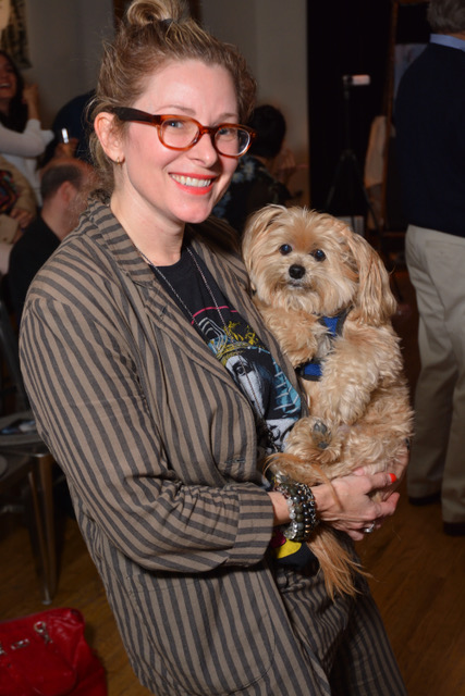 "Cady McClain (and Mr. Peanut) at a performance of ""Paint Made Flesh"""