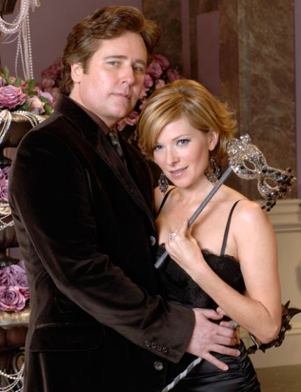 "Michael E. Knight and Cady McClain as ""Tad and Dixie Martin"" on ""All My Children"""