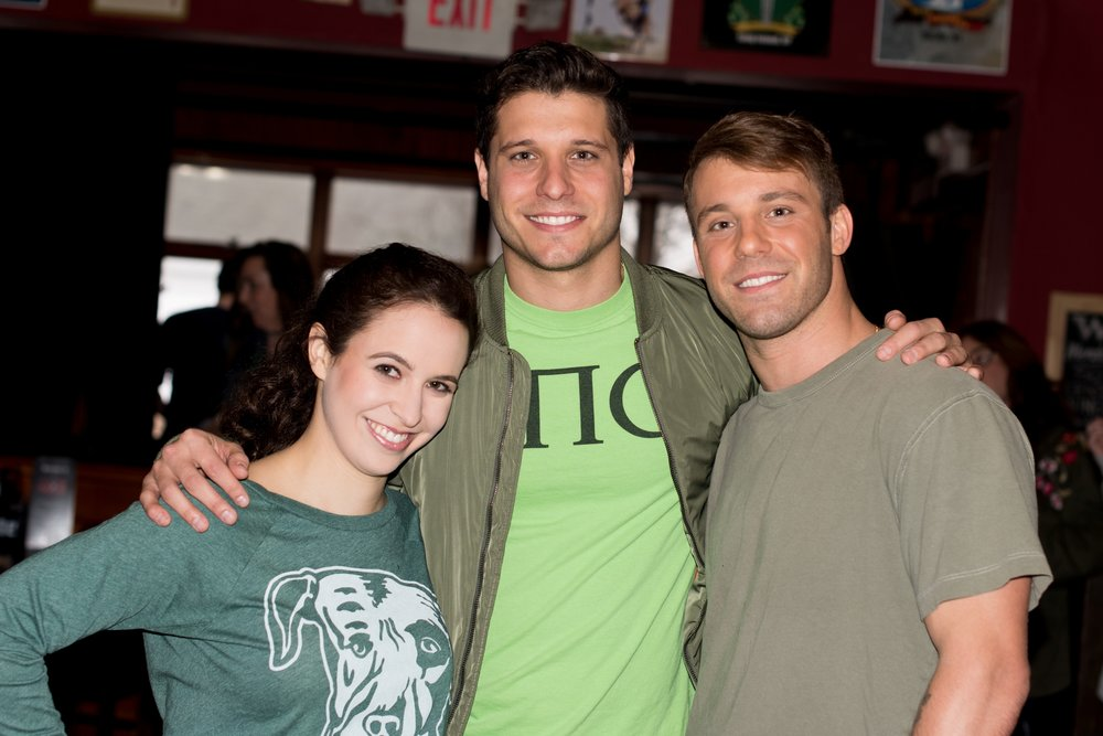 "Natasha Coppola-Shalom, Cody Calafiore, and Paulie Calafiore, ""New Dogs, Old Tricks"", Photo credit: Ciao Bella Photos by Camile Grace"