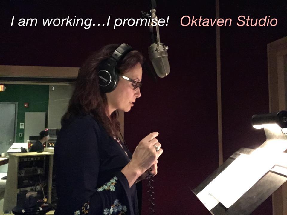 Linda Eder in the recording studio