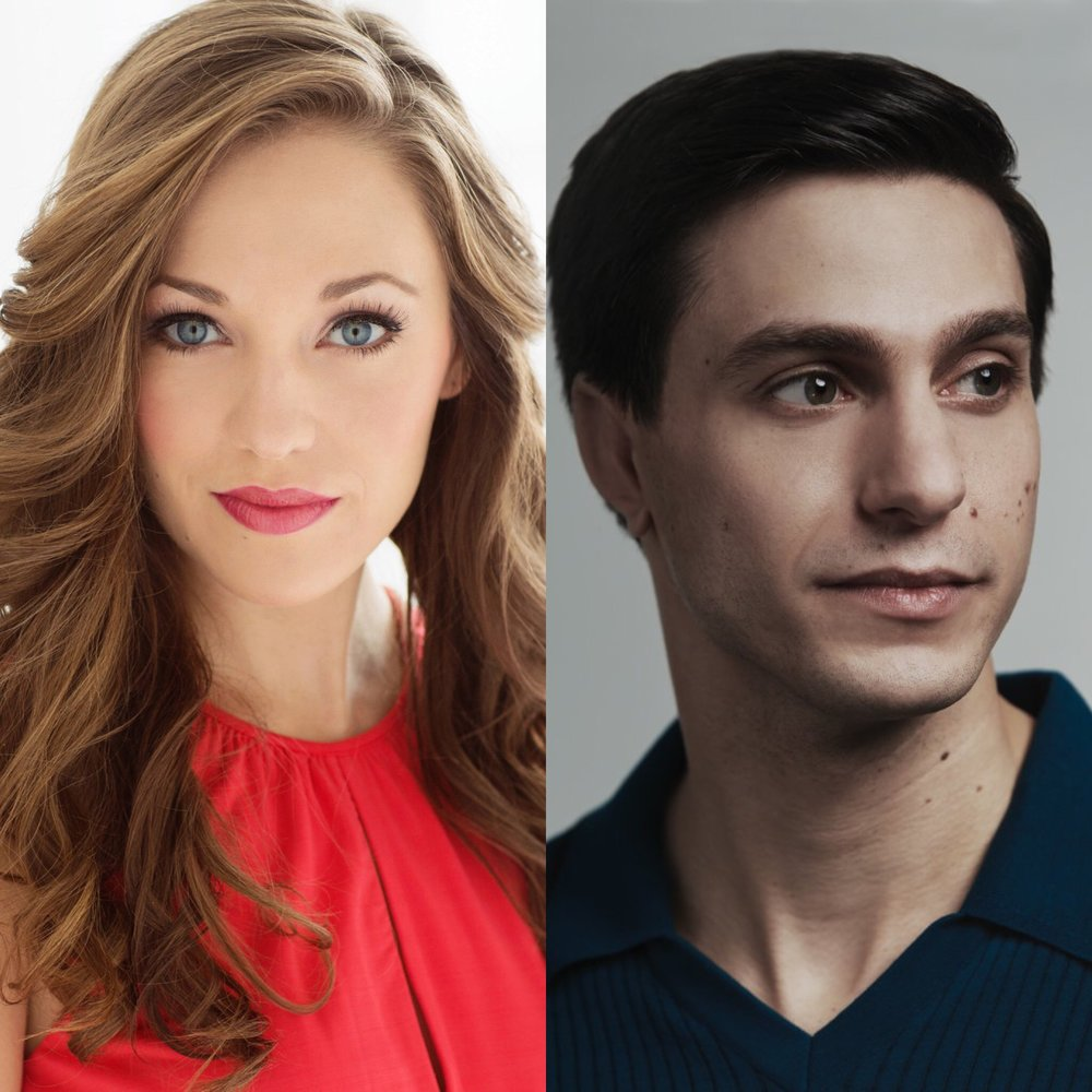 Laura Osnes (left) and Gideon Glick (right)