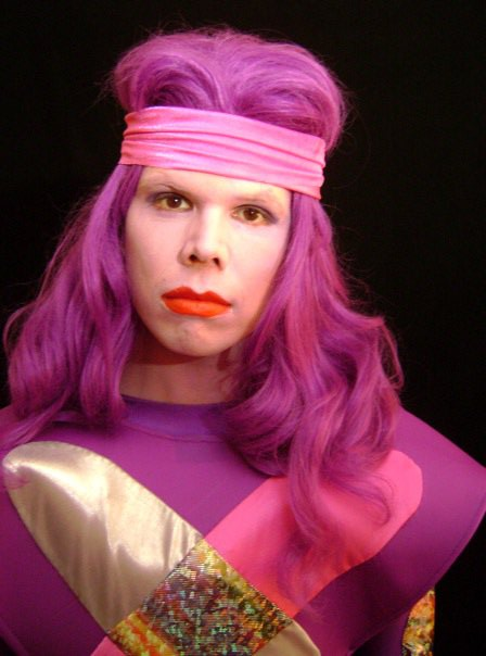 """Jeff Hiller as """"Sinergy"""" in """"Gem and the Holographs: A Truly Outrageous Parody"""""""