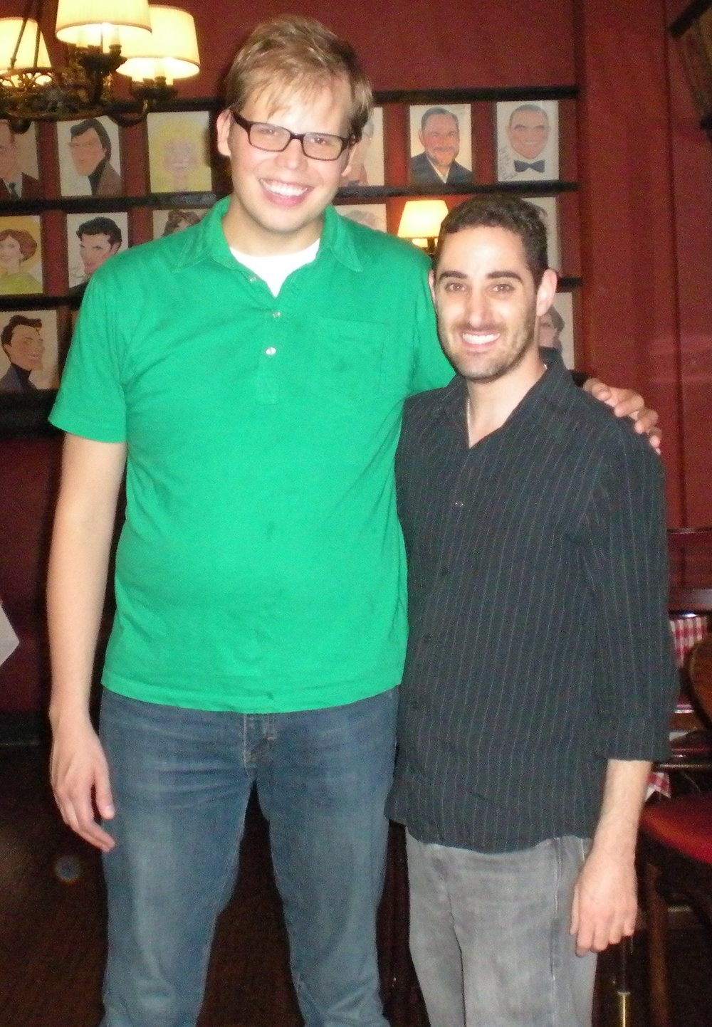 "Jeff Hiller and ""Call Me Adam"" at Sardi's in NYC"