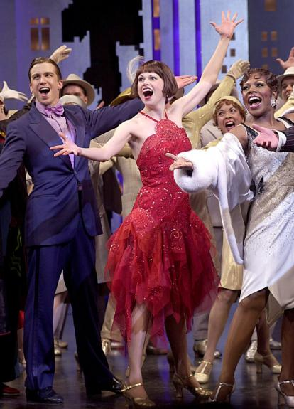 "Sutton Foster, Gavin Creel, Sheryl Lee Ralph in ""Thoroughly Modern Millie"""