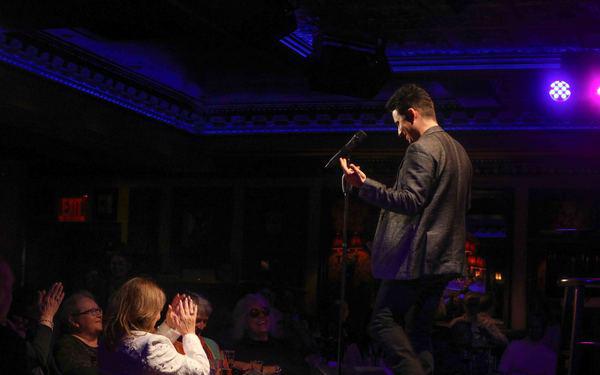 John Lloyd Young performing at Feinstein's/54 Below, Photo Credit: Stephen Sorokoff