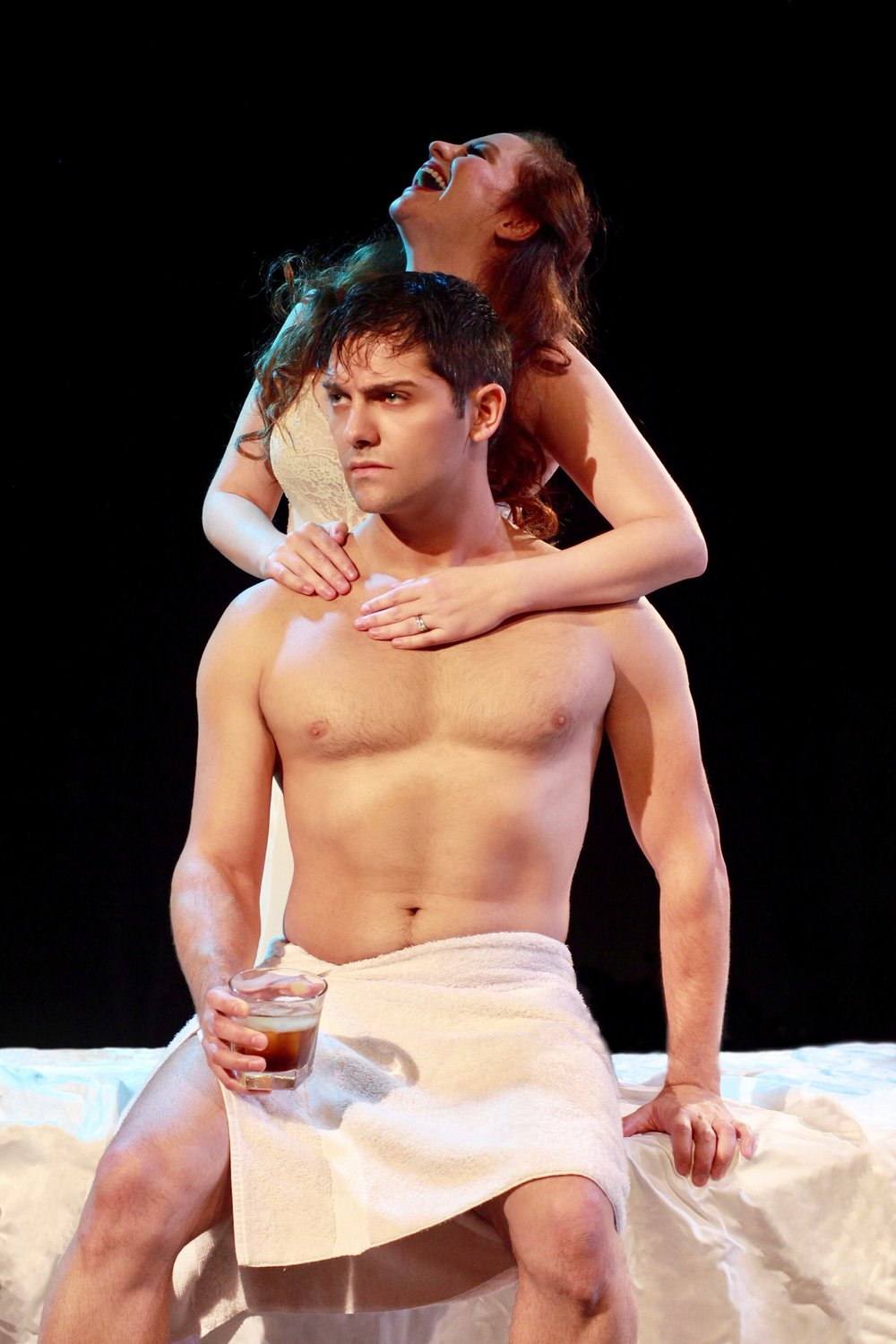 """Michael Raver and Andrea Lynn Green in Music Theatre of Connecticut's """"Cat on a Hot Tin Roof"""", Photo Credit: Heather Hayes"""