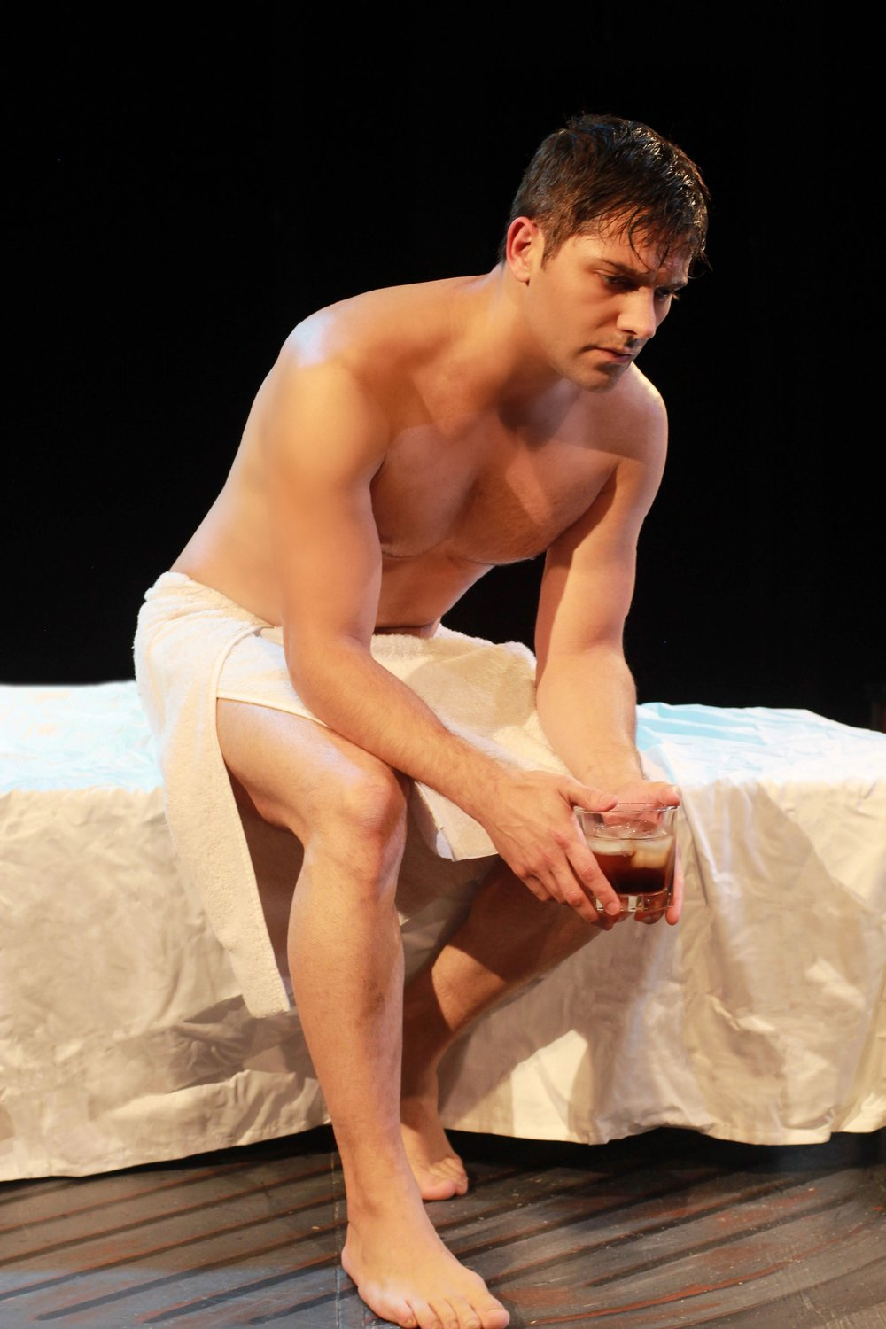 """Michael Raver in Music Theatre of Connecticut's """"Cat on a Hot Tin Roof"""", Photo Credit: Heather Hayes"""