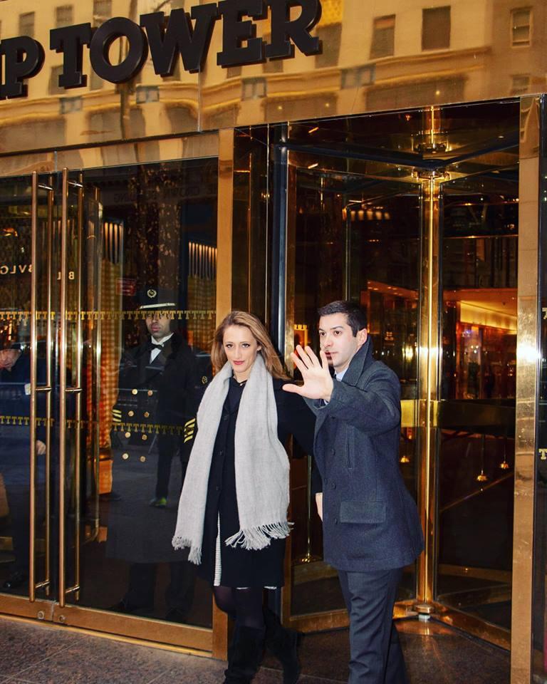 Sarah Naughton and Jake Weinstein as Jared Kushner and Ivanka Trump, Photo Credit: Ryan Brinkmann