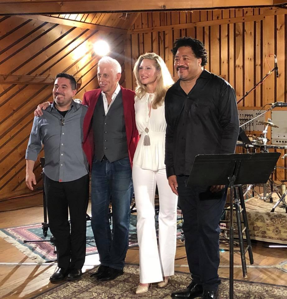 "Luba Mason with Joe Locke, James Genus and Samuel Torres recording ""TRIANGLE"""