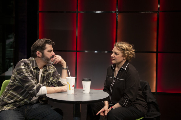 """Robert Gomes and Amy Hohn in """"Still At Risk"""", Photo credit: Clay Anderson"""