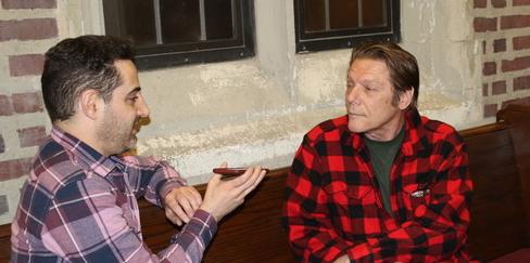 Adam Rothenberg (Call Me Adam) & James Bosley (Up Theater's Founder/Artistic Director), Photo Credit: Sam Mattingly