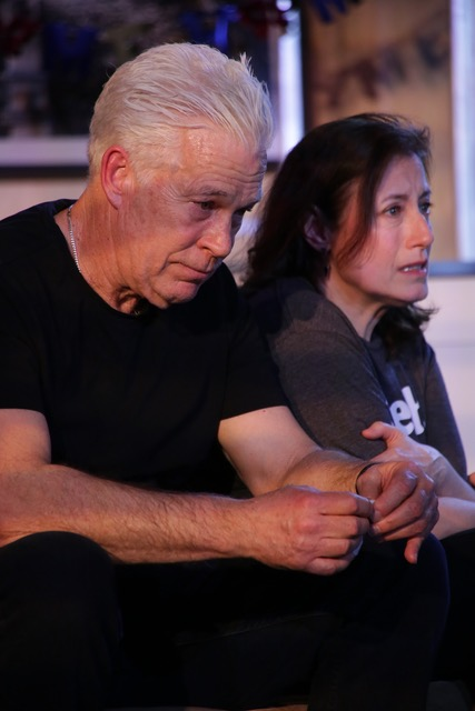 """Doc Dougherty (""""Mike"""") & Laura Fois (""""Roma"""") in """"St. Peter's Foot,"""" Photo Credit: Gerry Goodstein"""