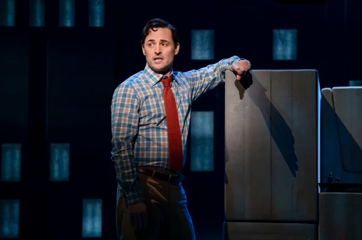 """Max von Essen as """"Marvin"""" in the National Tour of """"Falsettos"""", Photo Credit: Joan Marcus"""