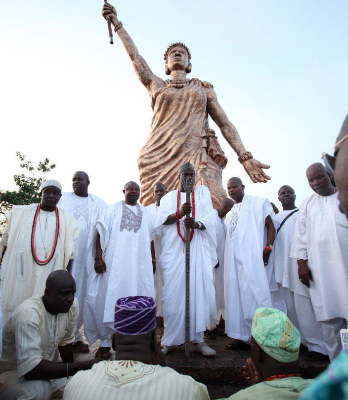 The 42 ft. statue of Queen Moremi.