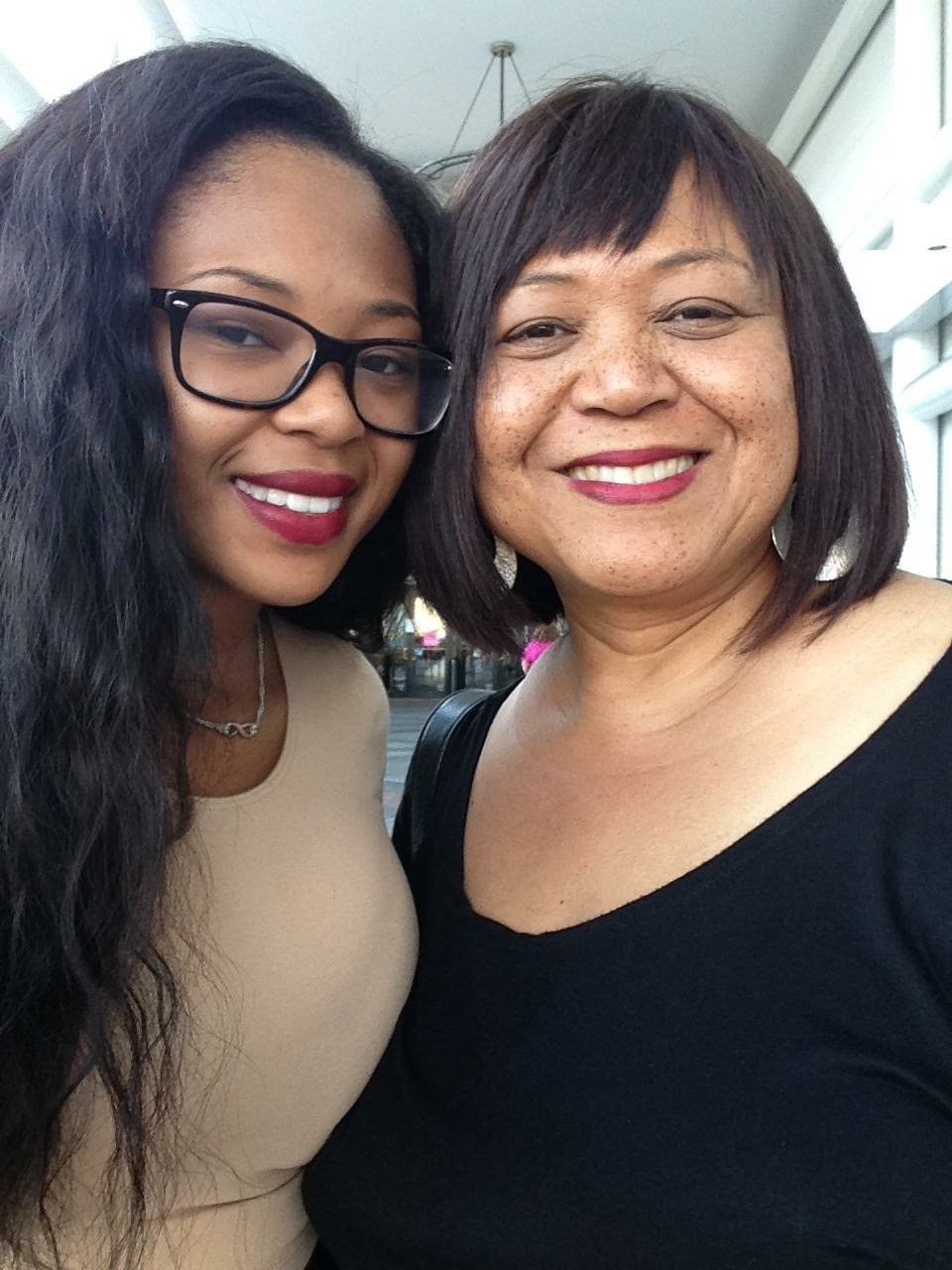 Sandra Clark with her 22-year-old daughter, Moremi.