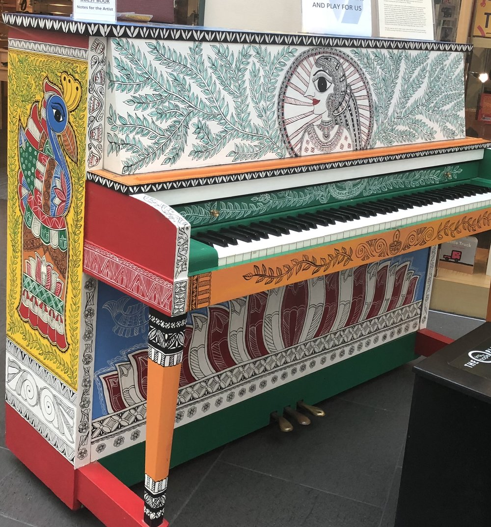 Painting on a piano, created for the Sing for Hope project in New York by  Artist Nupur Nishith . It was fun to see folks walk over and hit a few notes! Photo by Namita Paul