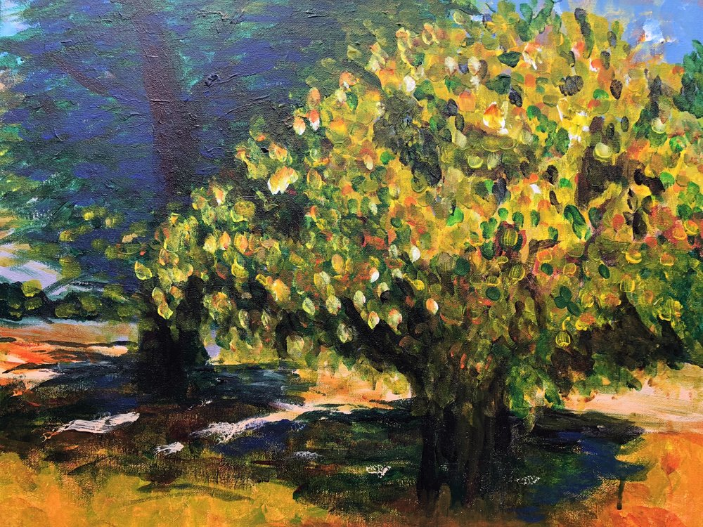 "Chartreuse - 20""X16""Acrylic on Canvas"