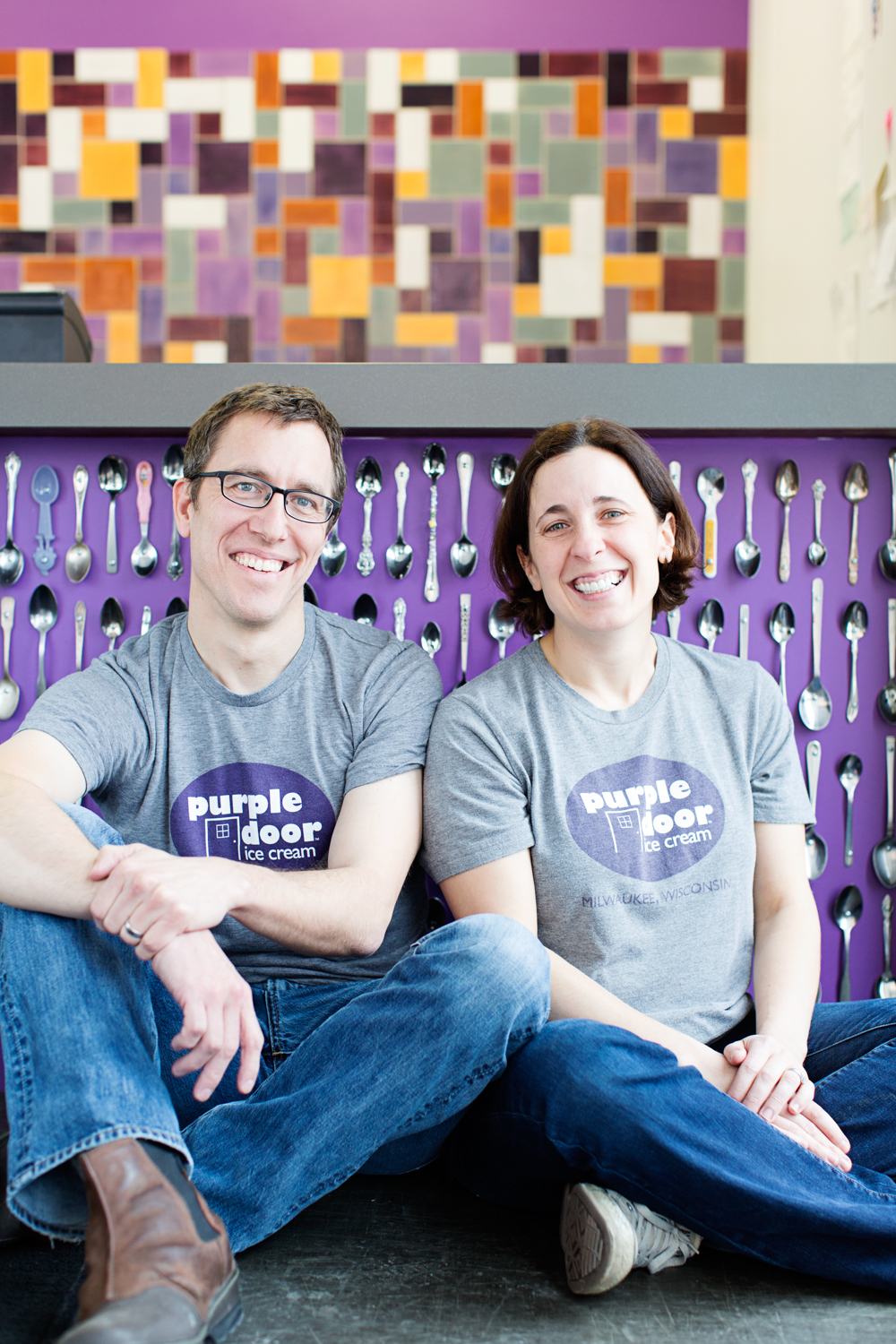 Steve and Lauren Schultz will open a second location of Purple Door Ice Cream in the Mequon Public Market.  Submitted photo
