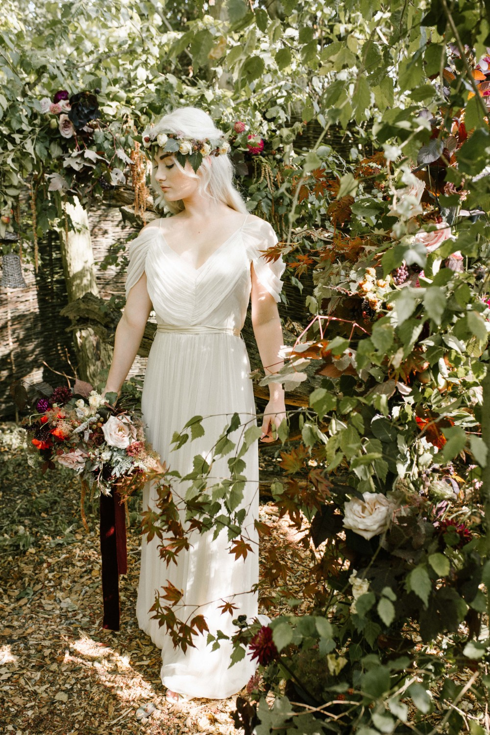Stunning foam-free floral arch installation by Katy at    Bracken & Twine     Image by    The Menagerie Lifestyle Photography