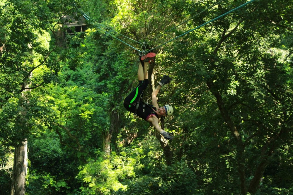 Fly along the longest zip-line in Mexico!