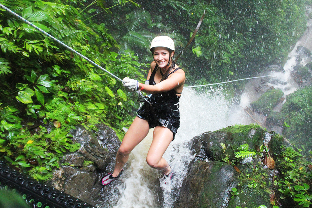 Climb a tree & rappel down a waterfall