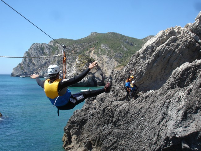 Climb, swim & zip on a Coasteering tour