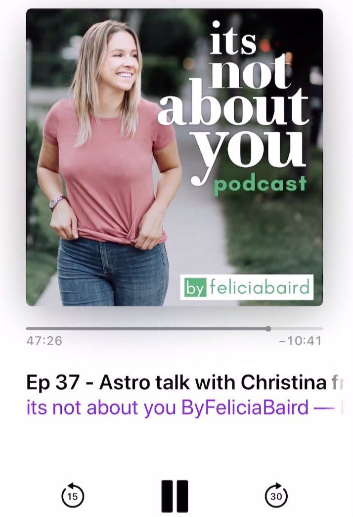 Podcast Guest for It's Not About You! 2.7.19 - Love my girl Felicia so much and was totally honored to share space with her and be featured as a guest on her beautiful podcast! She really pulled the best out of me! Click below to give it a listen